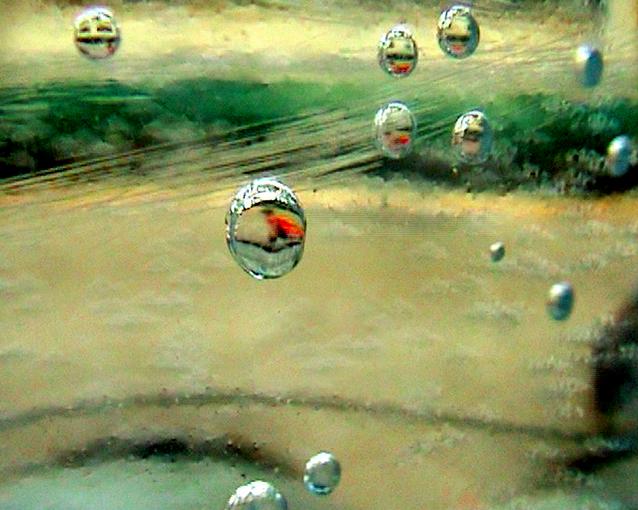 Siebdruck auf Glas, 56 x 70cm, 2007