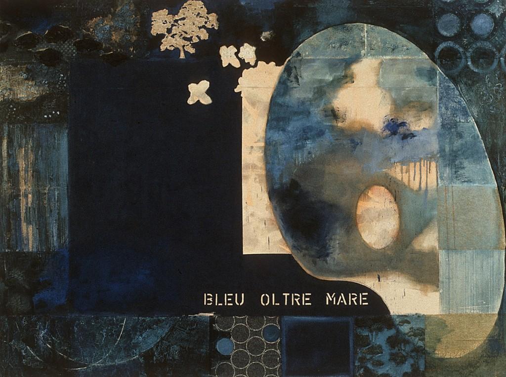 Bleu Oltre Mare, Öl auf Leinwand, 200 x 270 cm, 1995