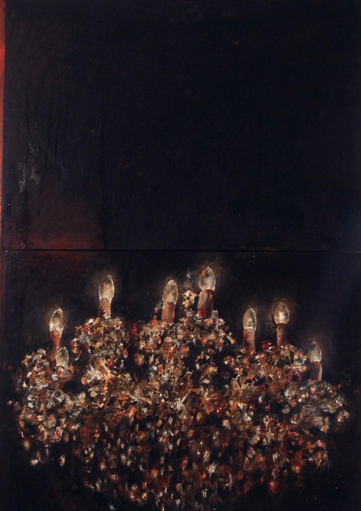Leuchter 1, Öl auf Leinwand, 200 x 140cm, 1990