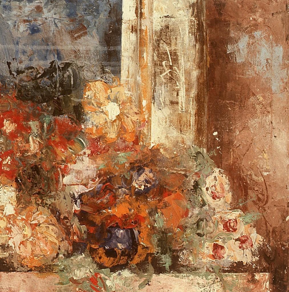 Ausschnitt (soziale Bilder), Öl auf Leinwand, 28-teilig, je 60 x 60cm,Grösse variabel, 1992