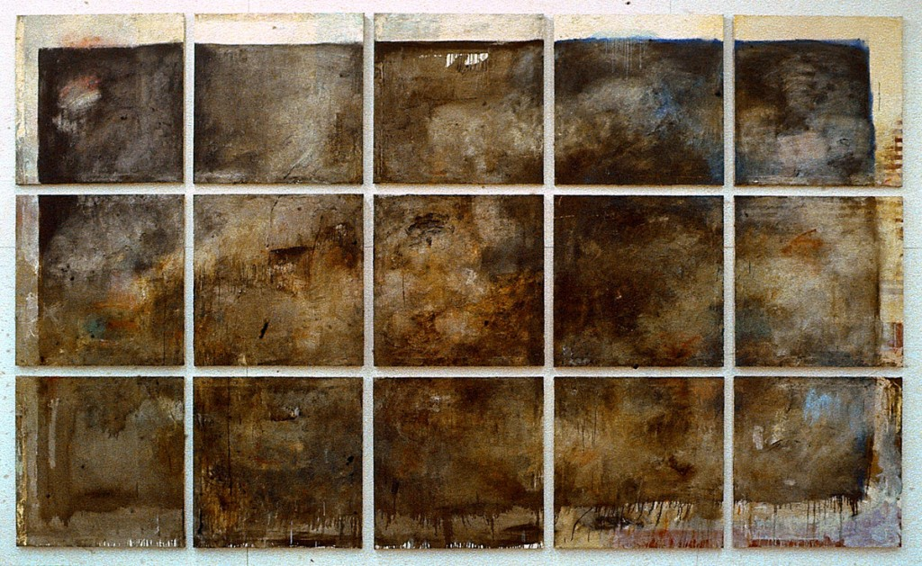 Malerei, Öl auf Leinwand, 15- teilig, je 80 x 80cm, 1990