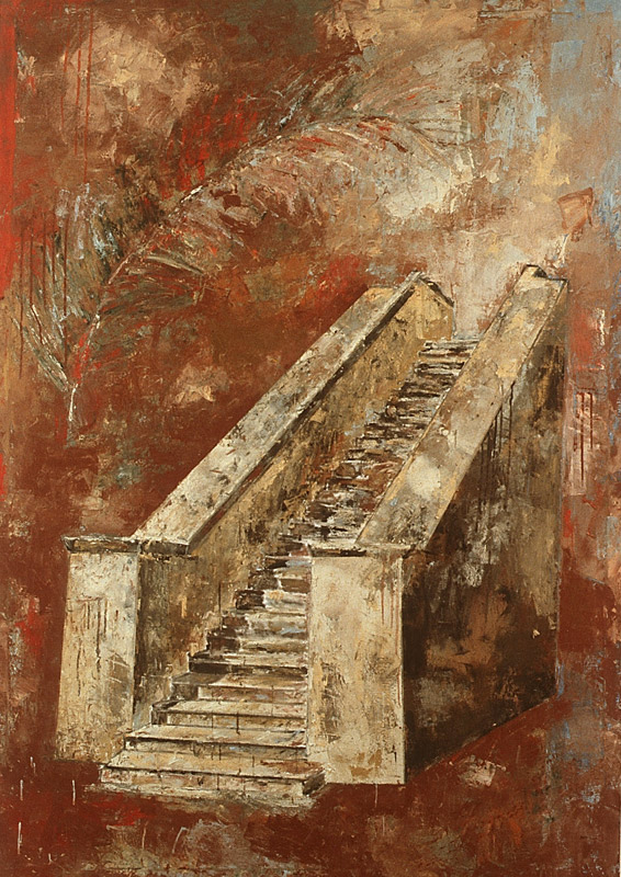 Malerei, Öl auf Leinwand, 200 x 140cm, 1991