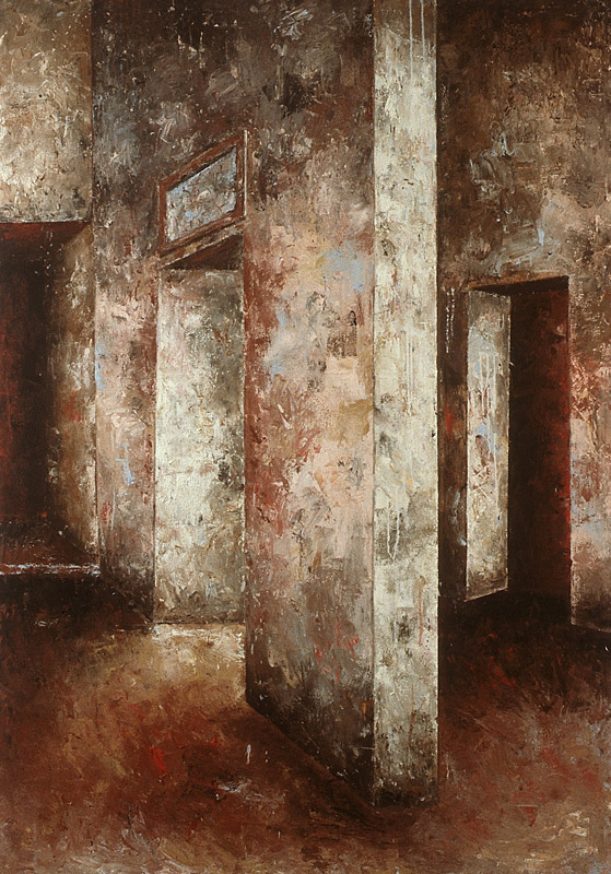Malerei, Öl auf Leinwand, 200 x 140cm, 1988