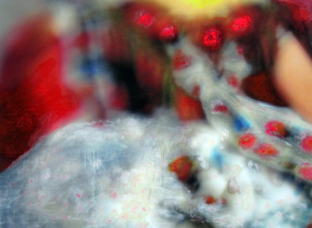 Tanz, Öl und Acryl auf Inkjet auf Leinwand, 140 x 118 cm, 2012