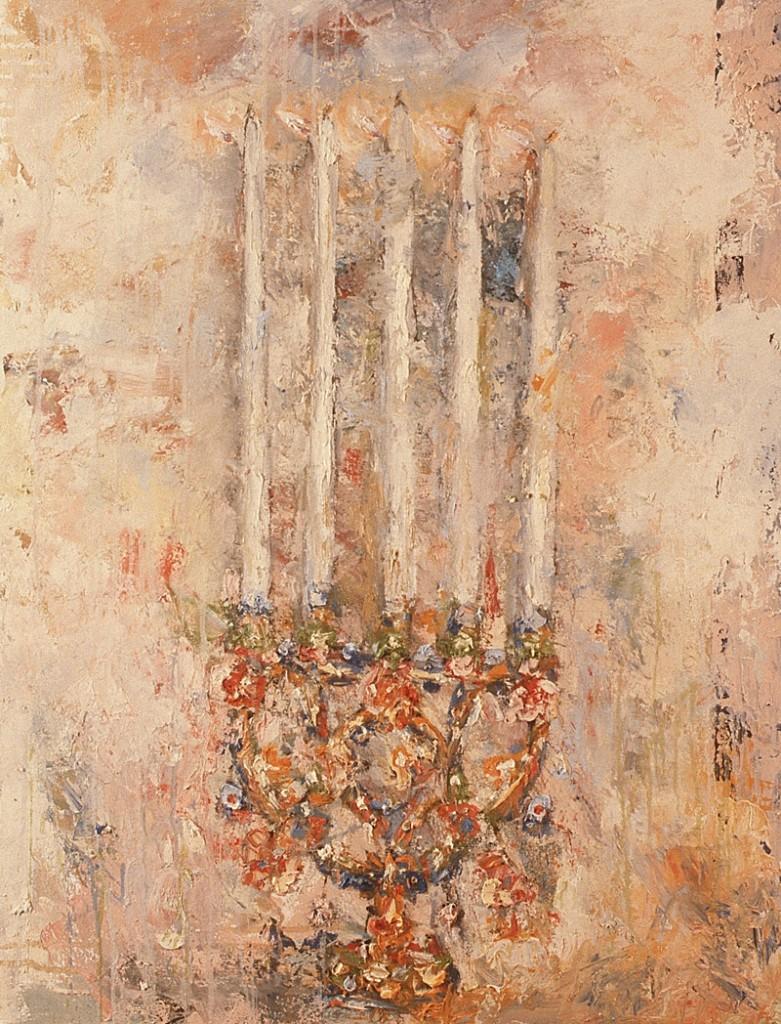 Leuchter, Öl auf Leinwand, 140 x 100cm, 1990