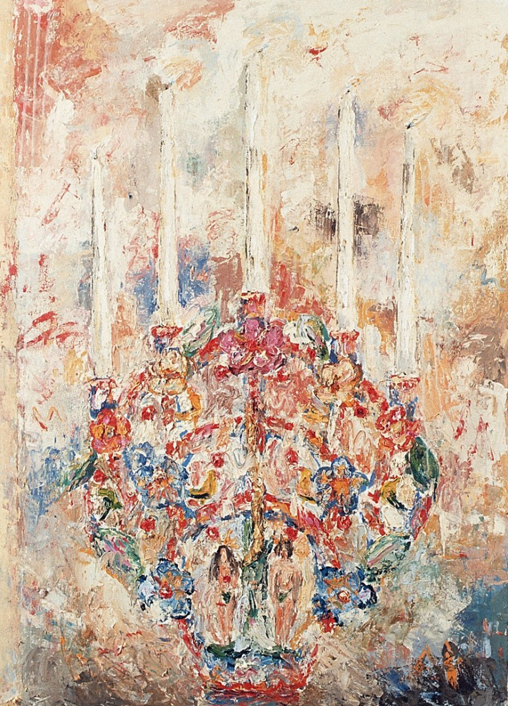 Leuchter 3, Öl auf Leinwand, 140 x 100cm, 1990