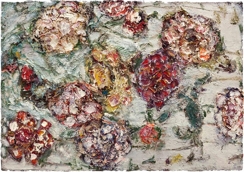 """34) 35 x 52cm; Bild aus der Serie """"Einfach Farbe!""""; 2019"""