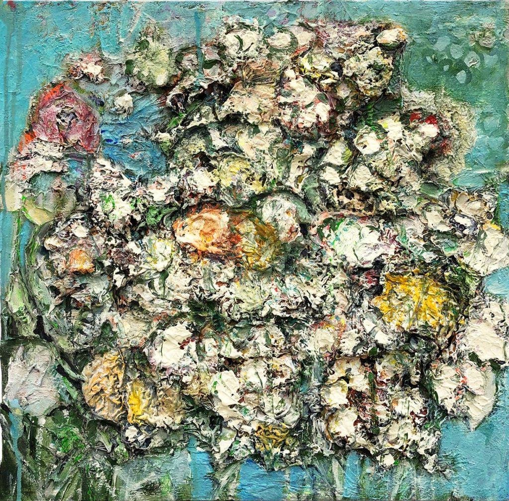 """39) 50 x 50cm; Bild aus der Serie """"Einfach Farbe!""""; 2019"""