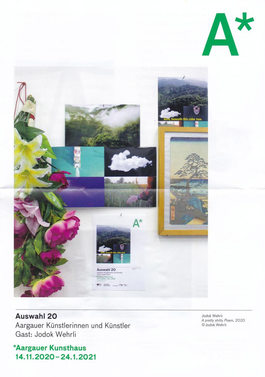 Plakat Ausstellung Auswahl 20 im Aargauer Kunsthaus